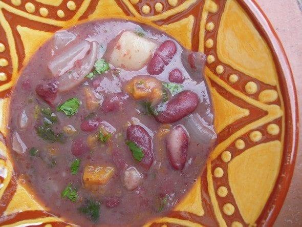 Sopa de Feijão Encarnado com Massa, a sopa do tio Zé