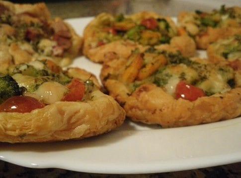 Folhados do blog Post it Amarelo: camarão com brócolos