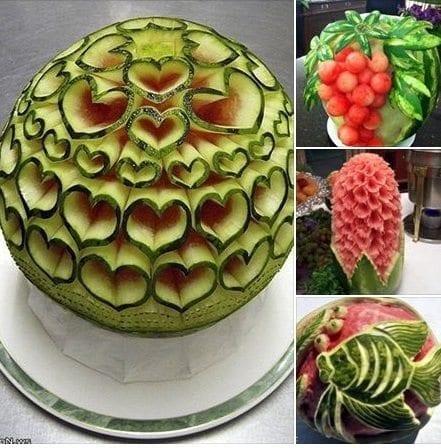Grafe e Faca Esculturas em comida