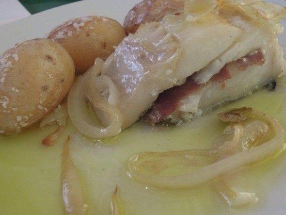 Grafe e Faca Bacalhau no forno com presunto de bolota (1)