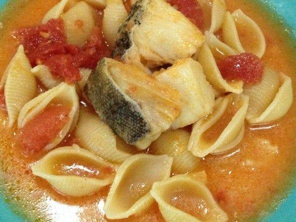 IMG_7085 sopa de bacalhau - Sopa de Bacalhau com conchas (6 pessoas)