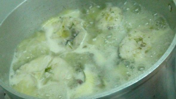 Fricassé de pescada com lima